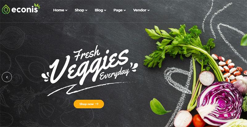 Template toko online wordpress untuk produk pertanian