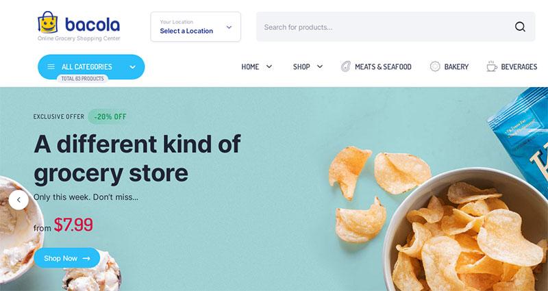 Theme toko online untuk jualan produk retail